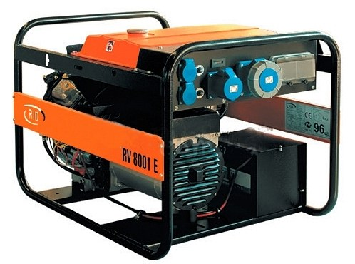Бензиновый электрогенератор с электрозапуском